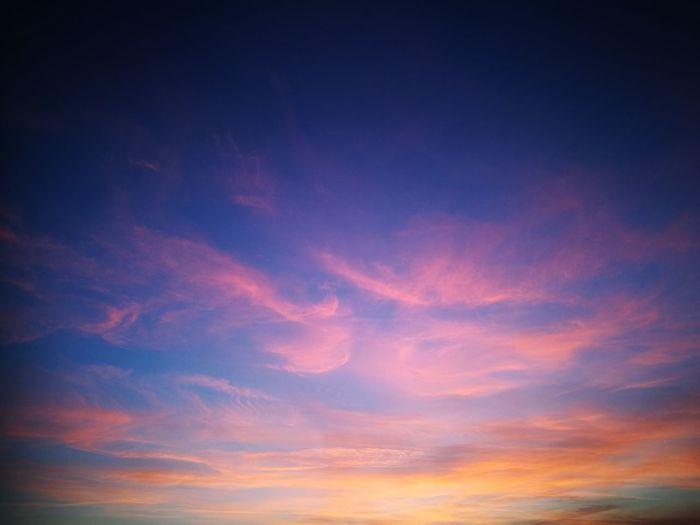 Sky Scenics Beauty In Nature Sunset Tranquil Scene Red Cloud - Sky Outdoors Dramatic Sky Sky Only Purple Sky Sunset Orange Sky Blue