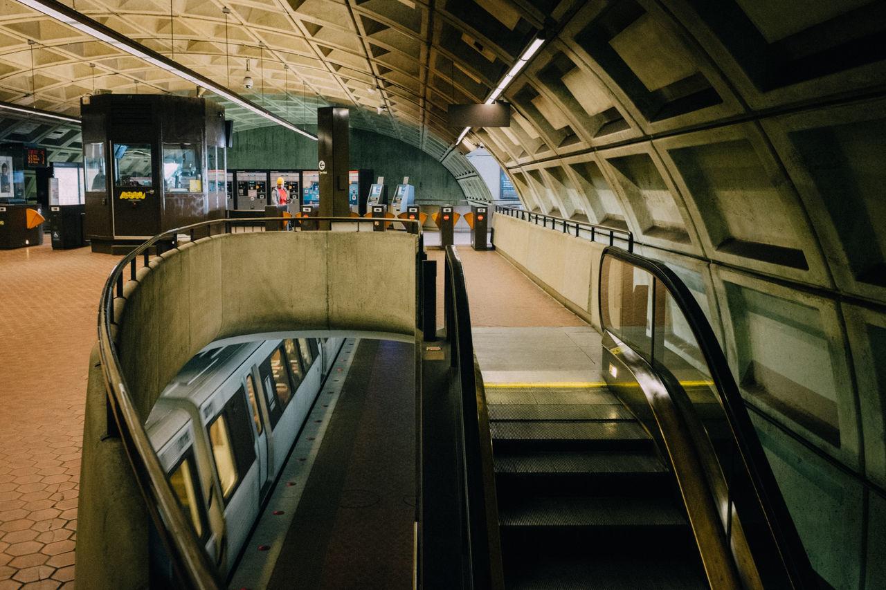 Escalator At Subway