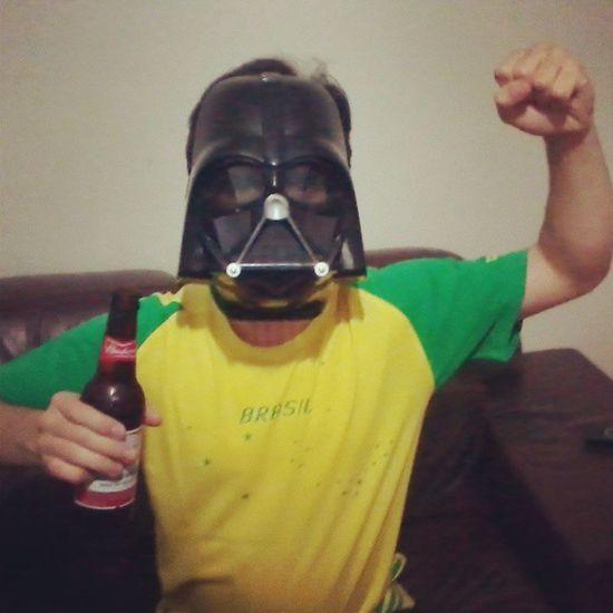 VAI BRASIL! Campeao CopadasConfederacoes Brazil Darthvader starwars final brasilxespanha celebration fun torcedor fifa confederationscup vaibrasil