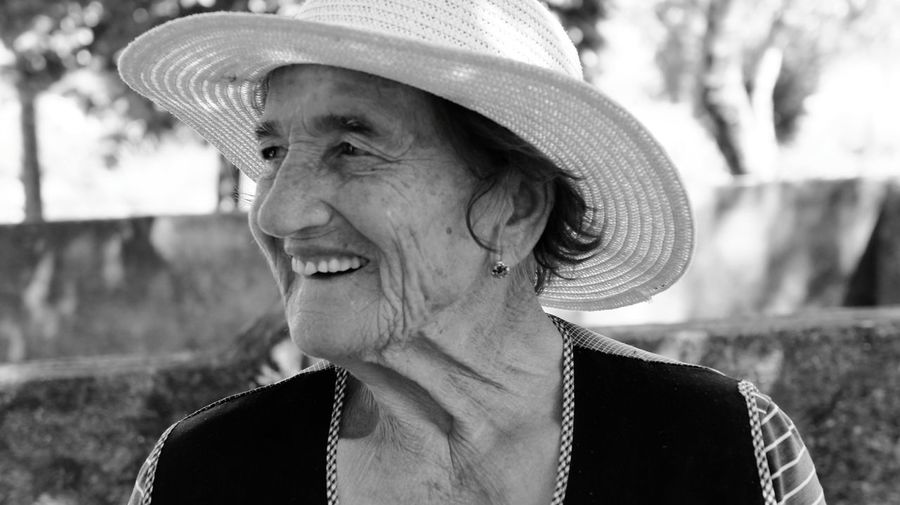 Grandmother 90Years Beautiful Portrait Of A Woman The Portraitist - 2016 EyeEm Awards Blackandwhite Black And White Enjoying Life Lovely Family Smile Lovely Smile Old Lady
