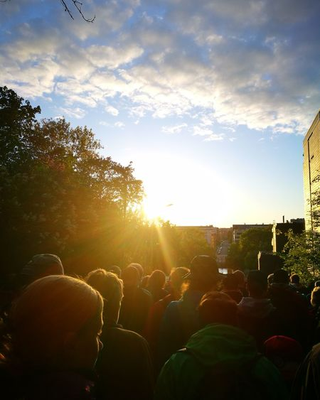 Crowd People Togetherness Large Group Of People Enjoyment Arts Culture And Entertainment Fun Event Adult Fan - Enthusiast Photography Themes Tree Live Event Outdoors Men Finland Turku Sport Sport Event Sunset The Street Photographer - 2017 EyeEm Awards