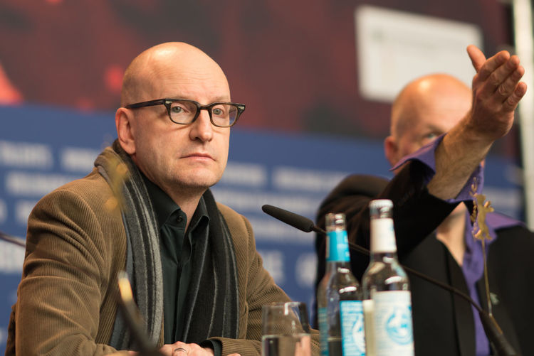 Berlin, Germany - February 21, 2018: American film producer, director, screenwriter, cinematographer, and editor Steven Soderbergh attends the 'Unsane' press conference during the 68th Berlinale 2018 Fame Famous Film Festival Golden Bear Photocall Premiere Arts Culture And Entertainment Berlinale Berlinale 2018 Berlinale2018 Entertainment Film Industry Film Production Focus On Foreground Mass Media People Photo Call Popular Posing Press Conference Red Carpet Red Carpet Event Selective Focus Steven Soderbergh