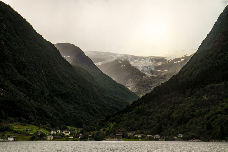 Odda Norway Landscape Landscape_Collection Glacier EyeEm Selects Mountain Pinaceae Nature Mountain Range Landscape Social Issues Travel Travel Destinations Beauty In Nature No People Vacations Scenics Day Snow Sky
