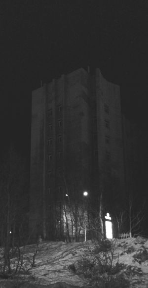 Office Building in Winter Night in Murmansk. Architecture Blackandwhite Monochrome Architecture_bw Urban Geometry Urban Architecture Night Photography