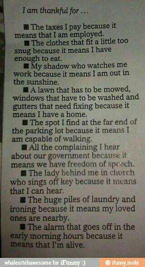 Less Complaining, More Appreciating