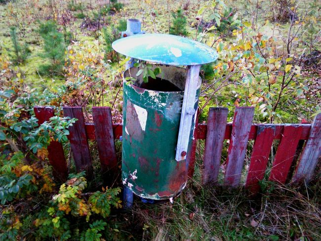 Garbage Can Nature Power Mothetearth Natures Revenge Colourful