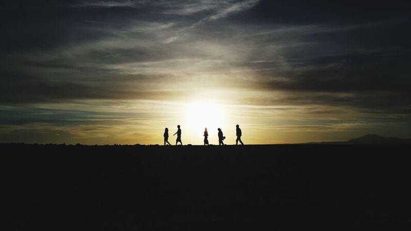 Atacama's desert. Laguna Cejar. Silhouette People Sunset Landscape Desert Sky Atacama Desert Atacama / Chile 🇨🇱 Laguna Cejar Clear Sky An Eye For Travel Colour Your Horizn Go Higher Visual Creativity This Is Latin America The Traveler - 2018 EyeEm Awards