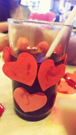 Glass hearts Drink Red Close-up Indoors  Drinking Glass Food And Drink People Cocktail Alcohol Adults Only Coke Human Body Part One Person Martini Glass Day Heartshape Hearts Glassheart Human Hand Adult Straw