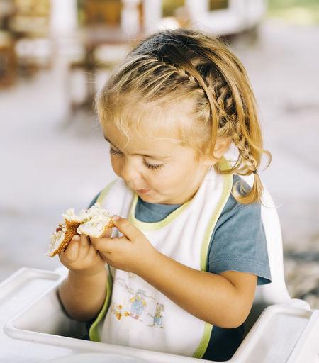 Cute girl holding ice cream