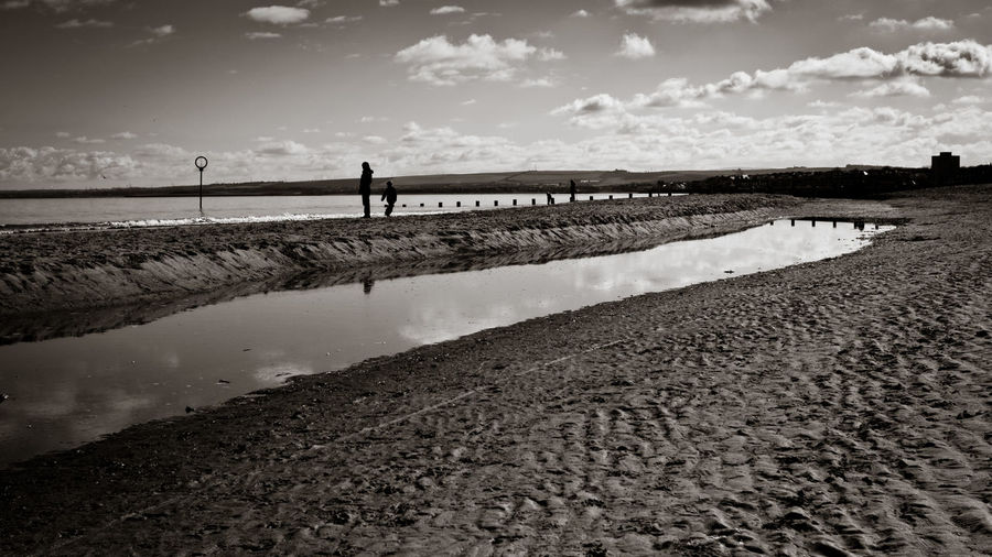 Beach Black And White Black And White Photography Blackandwhite Bnw Clouds Clouds And Sky Day Edinburgh Nature Outdoors Portobello Beach Portobello Beach, Edinburgh Sand Sky