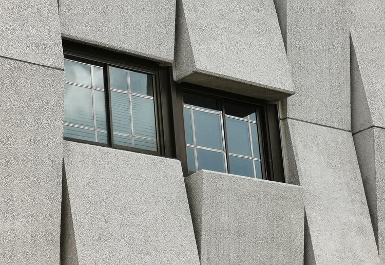 Close up view of windows on modern building