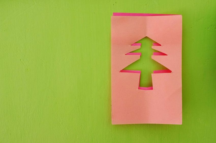 DIY Tree Casuarina Tree Christmas Tree Close-up Decoration Green Color Ideas Indoors  Metaphor Multi Colored No People Note Papers Paper Paper Note Pink Color Reminder Symbol