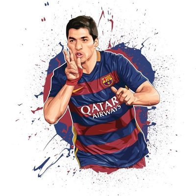 #suarez is sick!!! Here's my art #FCB #BARCA #CHAMPIONS 2015/16