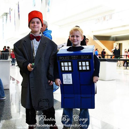 I love Doctor Who. And these kids were so cute as the doctor and the Tardis Doctorwho Tardis Grandrapidscomiccon