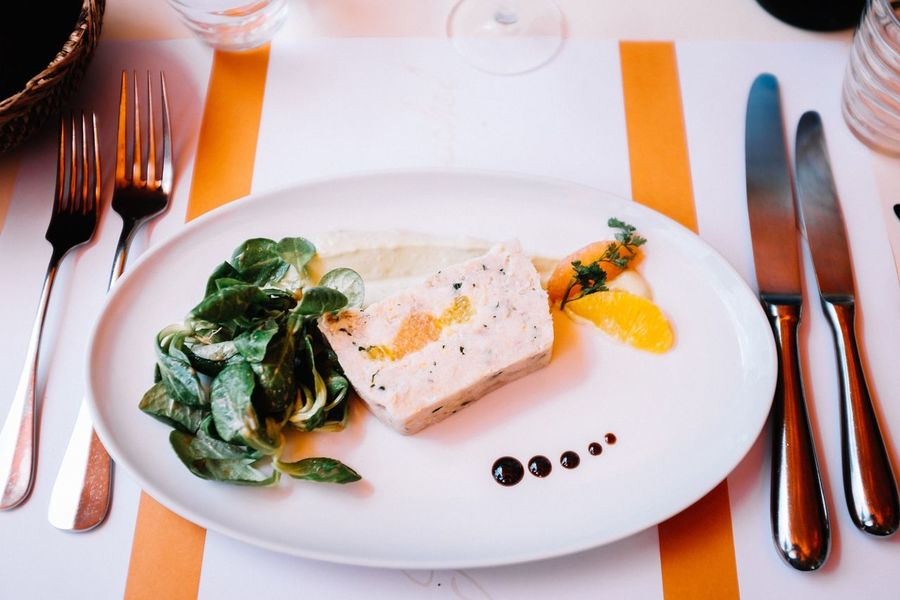 Starter Food French Cuisine French Food France Plate Table Fork Pate Ready-to-eat Freshness Healthy Eating High Angle View No People Meal Lyon Orange Close-up Fujifilm Fujifilm_xseries EyeEm EyeEm Best Edits EyeEmBestPics EyeEm Best Shots Your Ticket To Europe