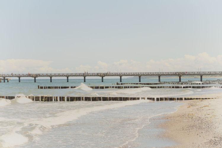 Seebrücke Baltic Sea Beach Beauty In Nature Day Heiligendamm Nature No People Ostsee Outdoors Salt - Mineral Sand Scenics Sea Sea Bridge Seebrücke Sky Tranquil Scene Tranquility Water