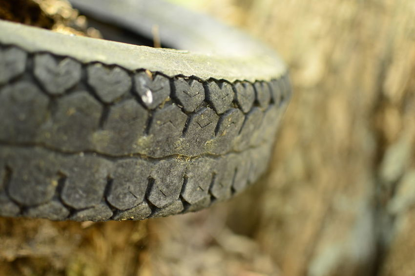 I see hearts ;-) Car Tyre Close-up Day Heart Heart Shape Nature No People Outdoors Selective Focus Textured