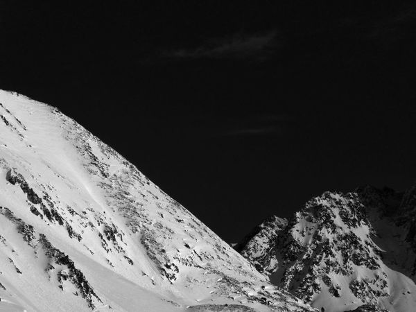 brightness and voids. Andorran peaks. Andorra El Pas De La Casa Snow Winter Cold Temperature Nature Tranquility Scenics Tranquil Scene Beauty In Nature Mountain Outdoors Snowcapped Mountain Sky