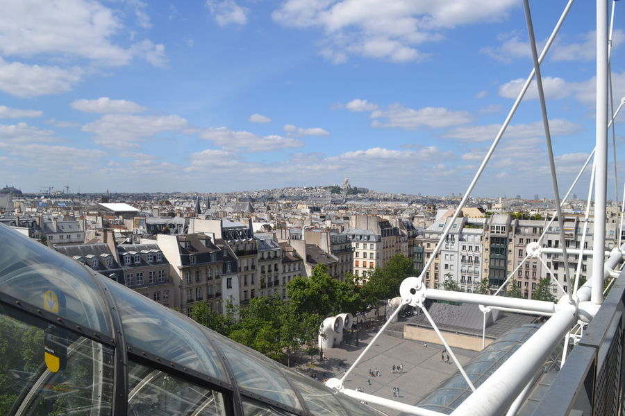 Paris Beaubourg Pompidou Center Sky Architecture City Cloud - Sky No People Cityscape Panoramic France The City Light Travel Destinations Flying High Live For The Story Live For The Story Place Of Heart The Street Photographer - 2017 EyeEm Awards Go Higher Summer Exploratorium Adventures In The City