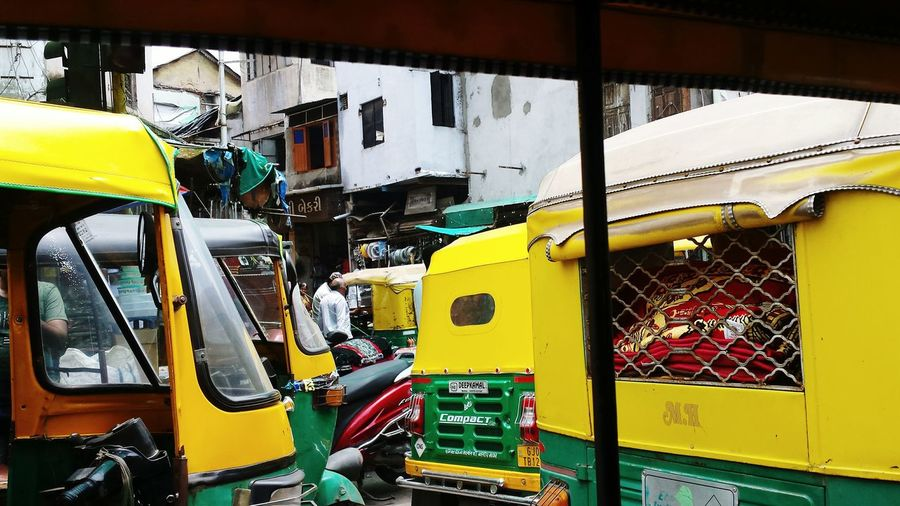 View of yellow bus