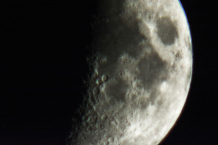 Close-up of moon against sky at night