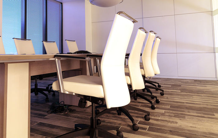 Office corporate conference room sits empty before a morning meeting Architecture BoardRoom Built Structure Business Chairs Conference Room Corporate Corporate Business Day Empty Meeting Nautical Vessel No People Office Office Building Outdoors Work