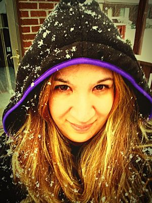 Squintyeyes Snowing Snow ❄ Itssnowing Silly #funny #loveable #me LongIslandNY When Boredom Strikes. Nikki Nicole ❤ Taking Photos Blackhoodie Brown Eyes Hoodie That's Me Imweird BlondeHighlights