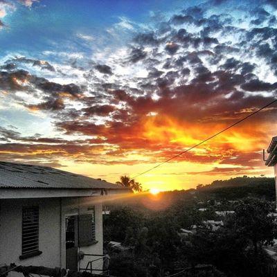 Sky_painters Skysnappers Colourbound Cloudporn Skyporn Grenada Amazing Sunset Sun Clouds Sky