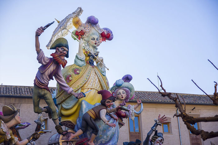 fallas valencia 2017 segundo premio Adult Adults Only Celebration Clown Crowd Day Fallas 2017 Fallasunesco Large Group Of People Low Angle View Men Outdoors People Sky Valencia, Spain Young Adult
