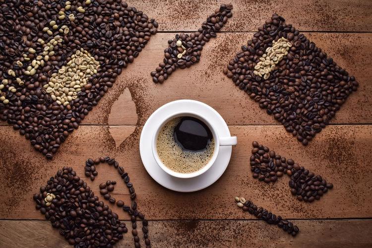 black coffee on