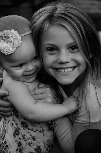 My two youngest... :) Happy Sisters Beauty Family Candid