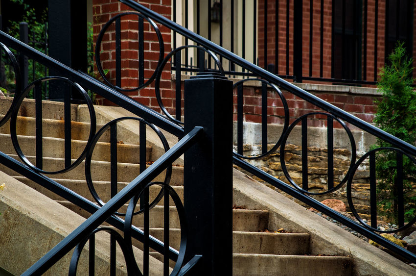 Absence Architecture Building Building Exterior Built Structure Close-up Day Empty Focus On Foreground House Metal Nature No People Outdoors Pattern Railing Spiral Staircase Steps And Staircases Sunlight