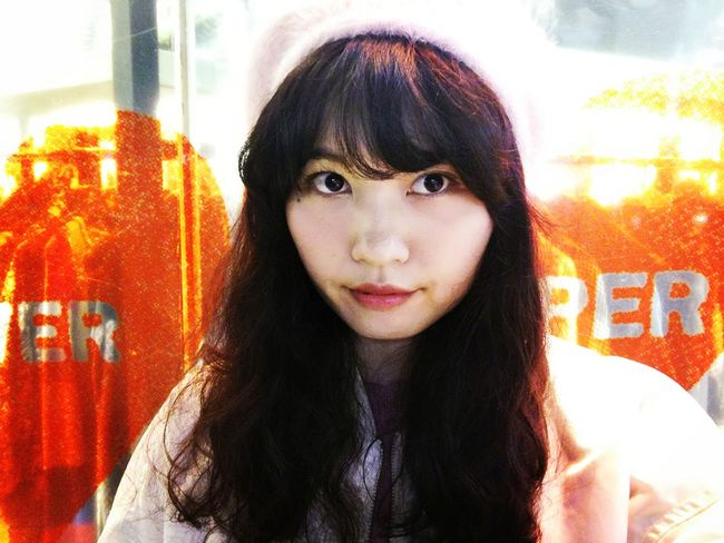 Japanese Woman Looking At Camera Front View Portrait One Woman Only Adults Only Only Women One Person Headshot One Young Woman Only Long Hair Young Women Young Adult Close-up Love Yourself Colour Your Horizn