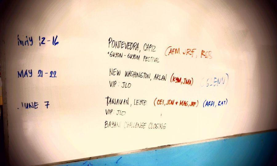 Konti nalang, malapit ng matapos ang half ng schedule namin.