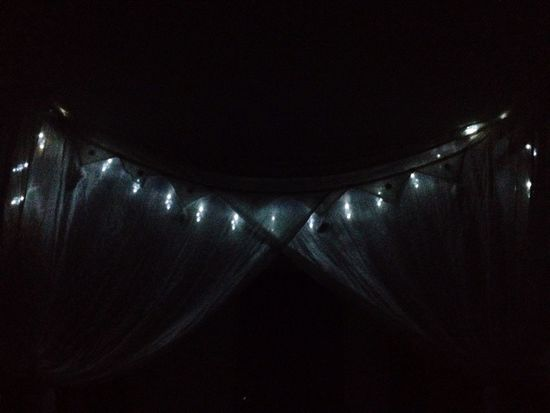 Cute fairy lights through the canopy as I lay in bed ^_^ Cute Lights Bed Lovely