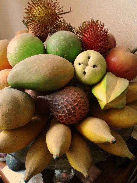 Fruit Variation Food And Drink Food Close-up Wood - Material Wood Carving Art Shape And Pattern Man Made Object Healthy Eating Imagination Mood Captures Pastel Colored Exceptional Photographs EyeEm Gallery Tropical Fruits Exsortic Fruits