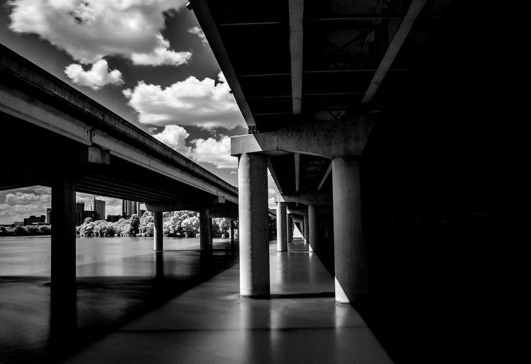 Underneath View Of Bridges Against Sky