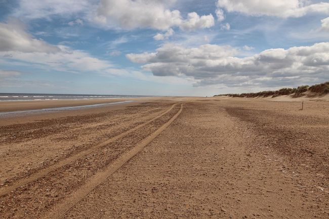 Holkham beach Cloud - Sky Beach Land Sky Scenics - Nature Tranquility Sand Beauty In Nature Tranquil Scene Sea No People Outdoors