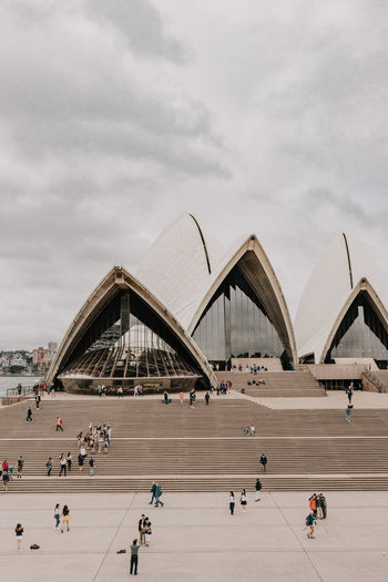 Built Structure Architecture Group Of People Sky Cloud - Sky Real People Building Exterior Nature Travel Destinations Crowd Travel Large Group Of People Day Lifestyles Tourism City Transportation Men Bridge Bridge - Man Made Structure Outdoors Arch Bridge Sydney Sydney Opera House Opéra