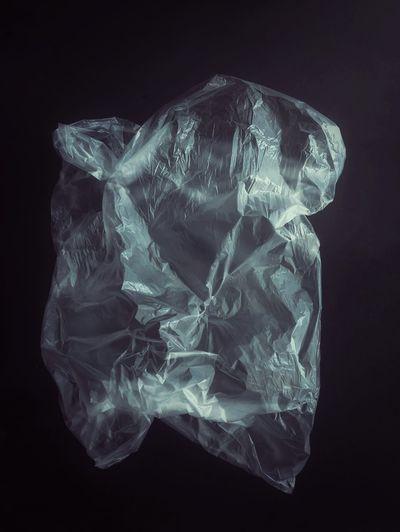 Plastic bag Plastic Bag Transparent Plastic Bag Black Background Black Background Close-up Translucent