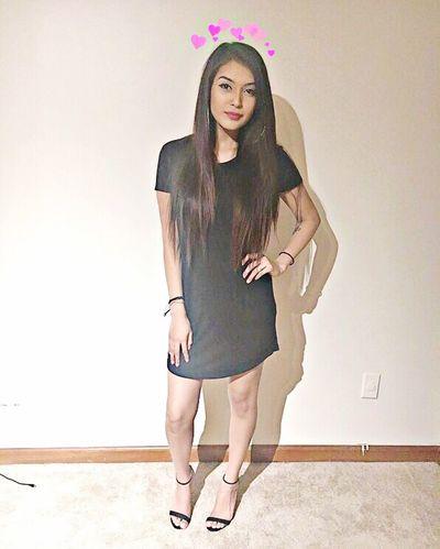 Nightout Little Black Dress Dress Heels