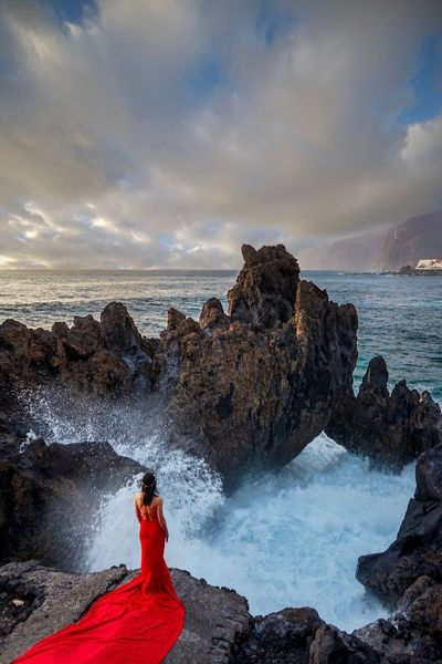 'Atlantis' EyeEm Selects EyeEm Gallery EyeEm Nature Lover EyeEm Best Shots EyeEm Rock - Object Sea Sky Beauty In Nature Cloud - Sky Nature One Person One Woman Only Water Lava Women Horizon Over Water Power In Nature Adventure Red Sunset Scenics The Great Outdoors - 2018 EyeEm Awards