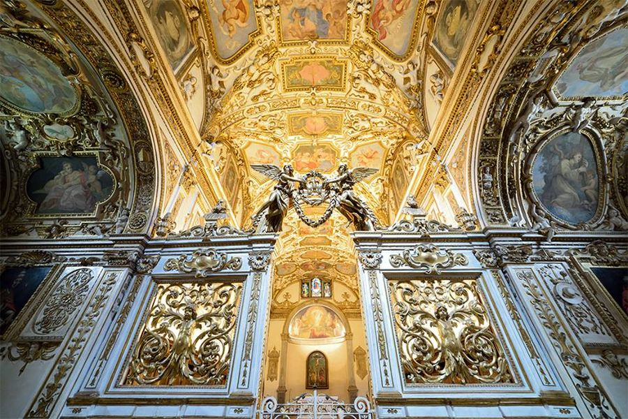 Architecture Camaldoli Ceiling Gold Gold Colored Religion Travel Destinations Verna The Secret Spaces