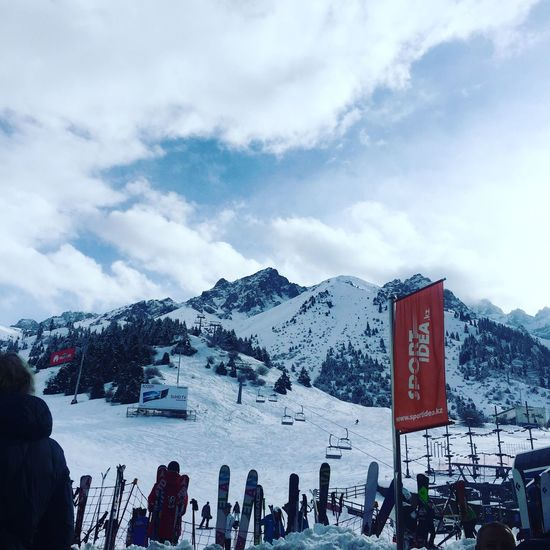 Let it snow! Skiing 🎿 Snow Sky Kazakhstan