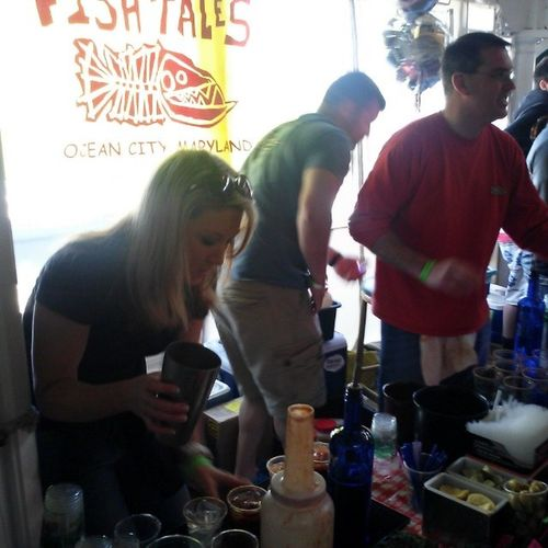 Kelly of Fisb Tails knows Bloody Mary'a @fagersisland Ocean98bloody Oceancitycool Ocmd OceanCityCool.com