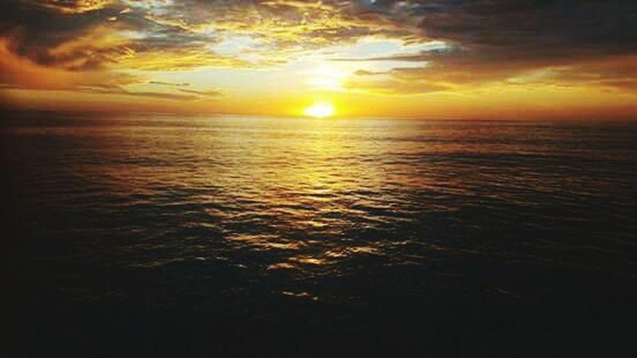 Sun kissed the beach