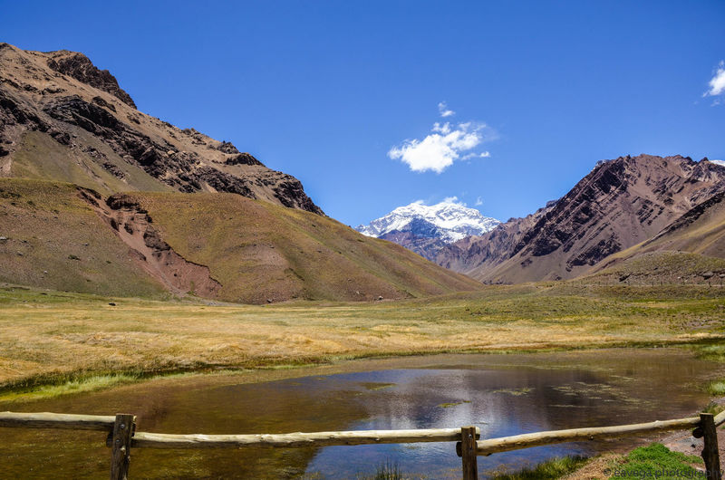 Aconcagua Aconcagua Mendoza. Aconcagua National Park Beauty In Nature Blue Cloud - Sky Day Environment Formation Idyllic Lake Land Landscape Mountain Mountain Peak Mountain Range Nature No People Non-urban Scene Outdoors Scenics - Nature Sky Snowcapped Mountain Tranquil Scene Tranquility Water