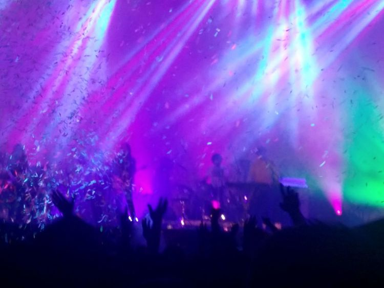 Togetherness Night Pink Color Enjoyment Illuminated Nightlife Vibrant Color Pink Youth Culture Scenics Enjoying Event Majestic Outline Multi Colored People Watching People Band Tame Impala TakeoverMusic