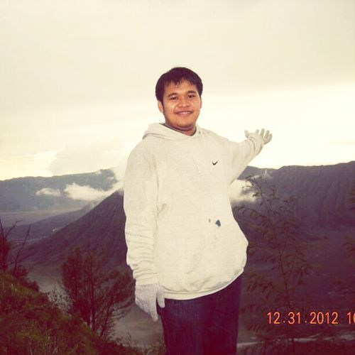 chillin out at Mount Bromo.