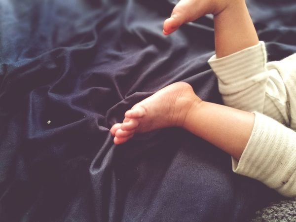 Human Body Part Children Only Child Close-up Leg Foot Pant Comfort On Bed Bedroom Monday Blues Morning Wakeup Happy